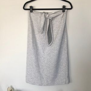 Cute Club Monaco Knit Skirt with Tie Front